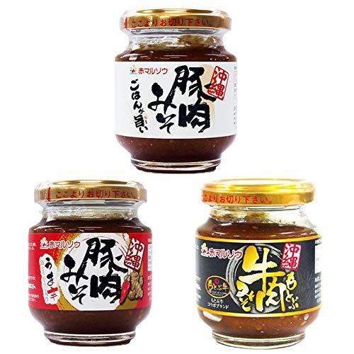 旨いもんハンター オリジナル 肉みそ食べ比べ 6個×2セット 赤マルソウ 沖縄のあんだんすー 豚肉とブランド牛を使用したおかず味噌