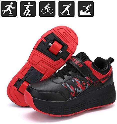 Rolschaatsen Schoenen Met 2 Wielen Jongens Meisjes Kinderen Rolschaats Schoenen Skateboarden Schoenen Skeelers Inline Skates Outdoor Sneakers Loopschaatsen