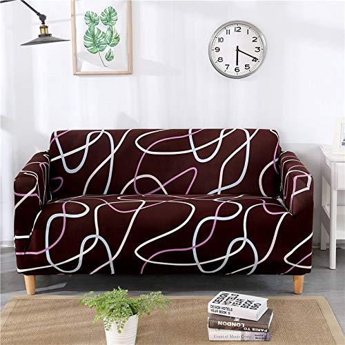 PPOS Elastisches Sofabezug-Set für Wohnzimmer-Sofatuch rutschfeste Sofabezüge für Haustiere Stretch-Sofa Schonbezug A14 3Sitz 190-230cm-1Stk