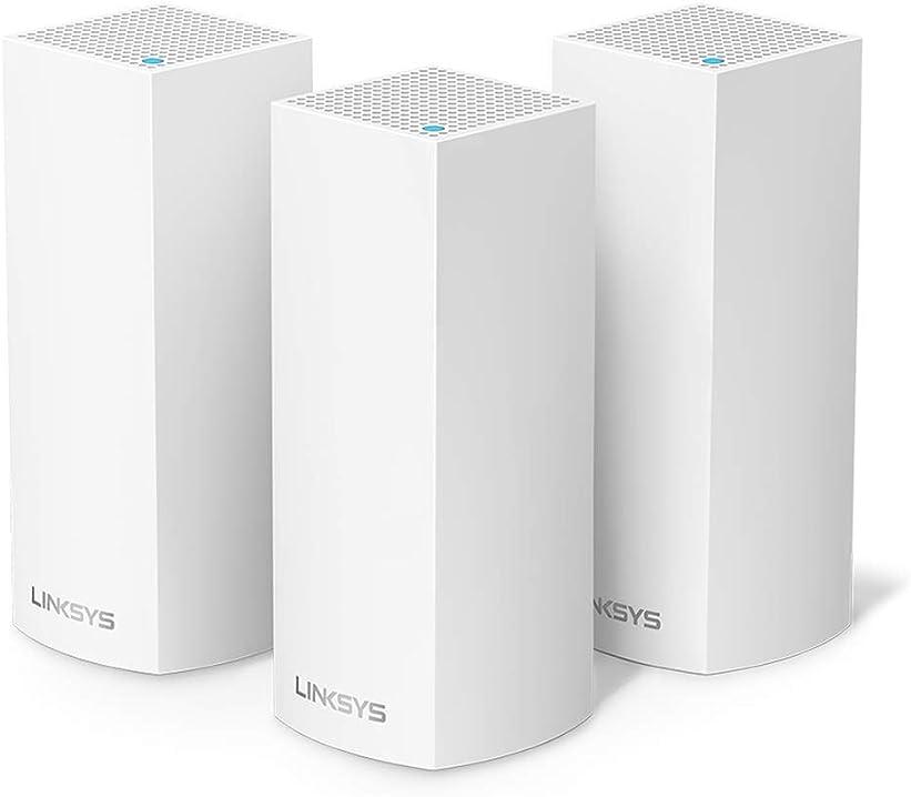 Linksys whw0303 velop sistema wifi mesh tri-band per casa, router ac6600/range extender, copre fino a 525 mq WHW0303-EU
