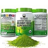 Best Green Superfood Powders - Peak Performance Organic Greens Superfood Powder. Best Tasting Review