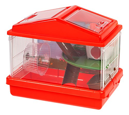IRIS USA 2-Tier Hamster Cage, Red
