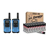 Motorola T100 Talkabout Radio, 2 Pack & Energizer AAA Batteries (48 Count), Triple A Max Alkaline Battery