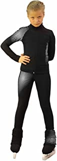 IceDress Figure Skating Outfit -Disco (Black and White)