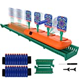 BIMONK Running Shooting Targets for Nerf Guns, Electronic Scoring Targets with 2.8ft Track, Digital Auto Reset Targets, 20pcs Nerf Darts, Birthday Gifts Toy for 6 7 8 9 10 Years Old Boy and Girls