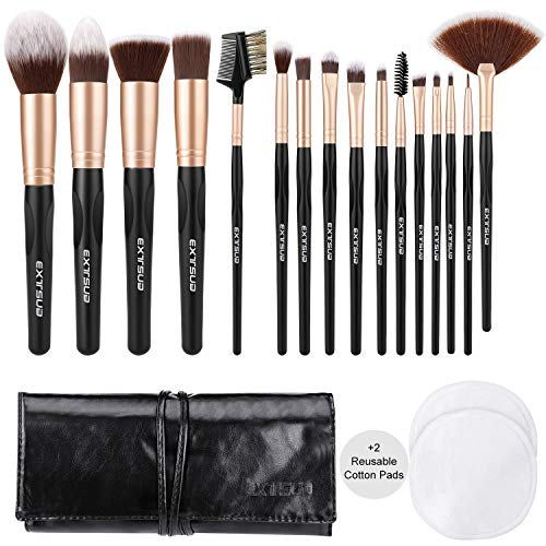 EXTSUD 16 Stück Make Up Pinsel Set Premium Schminkpinsel Kosmetikpinsel Professionelle Foundation...