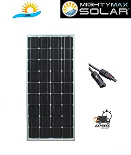 Mighty Max Battery 100 Watt 12 Volt Waterproof Monocrystalline Solar Panel Charger Brand Product
