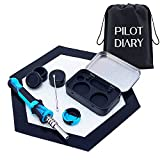 PILOTDIARY Portable Silicone Honey Extractor Carving Pack with Cap Travel Kit Black&Blue