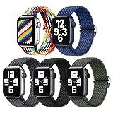 5 Pezzi Intrecciato Solo Loop Cinturini Compatibile con Cinturino Apple...