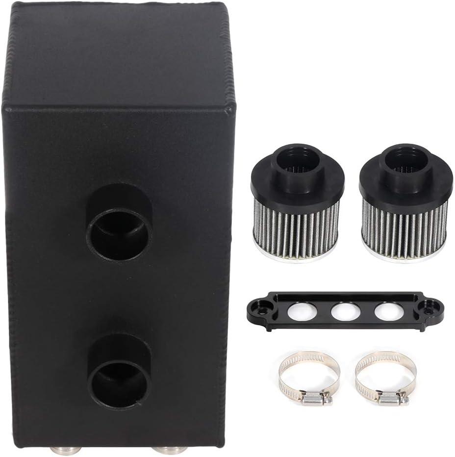 ZENITHIKE Oil Catch Can Reservoir Kit Black w store Tank online shopping Aluminum
