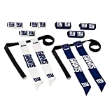 Franklin Sports NFL New York Giants Flag Football Sets - NFL Team Flag Football Belts and Flags - Flag Football Equipment for Kids and Adults