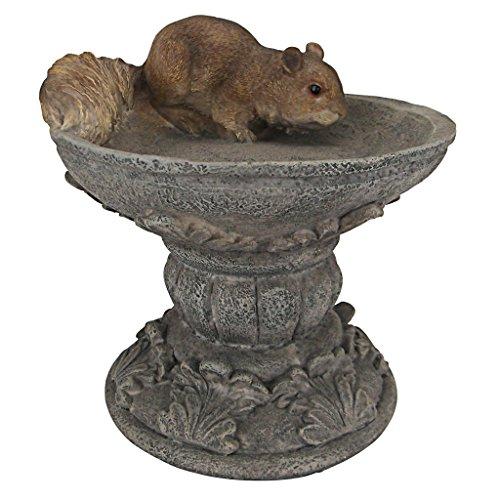Design Toscano Dekofigur Eichhörnchen auf Sockel, Kunstharz