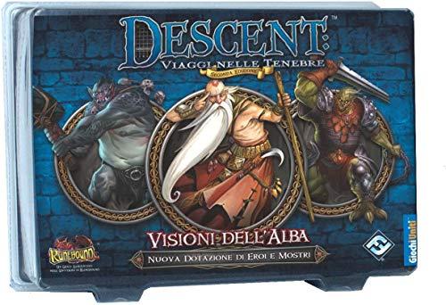 Giochi Uniti- Descent Seconda Edizione: Visioni dell'Alba Runebound Gioco da Tavolo, Multicolore, GU408