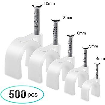 Kabelschellen Nagelschellen Kabel-Schellen mit Nagel 5mm 100 St/ück