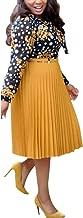 HD Stylish African Dresses for Women Patchwork Midi Skirts Ladies Chiffon Shirts Summer Dress