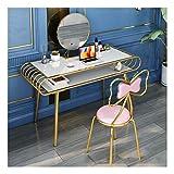 WWWFZS Juego de mesa de tocador de madera, tocador, tocador de maquillaje con cajones, diseño elegante (tamaño: 80 x 45 x 80 cm)