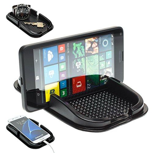 MOBILEFOX KFZ Auto Anti Rutsch Matte Haft Pad Armaturenbrett Handy Halter für Microsoft Lumia 950/930 / 830/730 / 650/640 / 550 / XL / 1520/1020