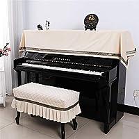 ピアノカバー 高級 ベルベット通気性防塵ピアノカバーツーピースセットシンプル90x200cmユニバーサル 防塵カバー 灰つけない (Color : B, Size : S)