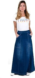 Wash Clothing Company Maxi Denim Skirt with Deep Pockets