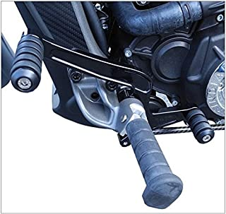 Aeromach (CI-2030) 2015 Up Indian Scout Heel Toe Shift Lever (Controls) Gloss Black WITH Matching Brake Pedal Peg - CNC Billet Aluminum MADE IN THE USA - Motorcycle Chopper Scout 60 Shifter