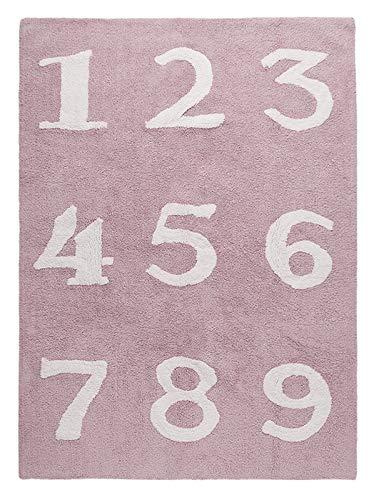 Happy Decor Kids hdk-233 Tapis lavable chiffres, roso-bianco, 120 x 160 cm
