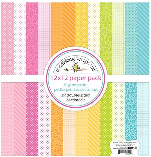 DOODLEBUG DESIGN INC. 6692 Papier, 30,5 cm, Hey Cupcake, 12 Designs/1 Stück, Einheitsgröße