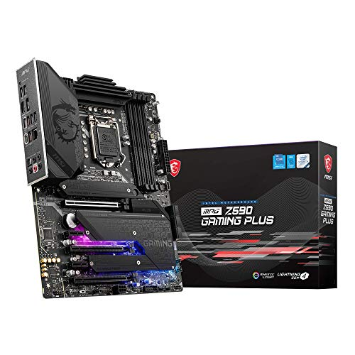 MSI MPG Z590 GAMING PLUS - Placa de base ATX, Soporta procesadores Intel Core 11th Gen, LGA 1200, Mystic Light, 14 Duet Rail 75A VRM, DDR4 Boost (5333MHz/OC), PCIe 4.0 x16, M.2 Gen4/3 x4, 2.5G LAN