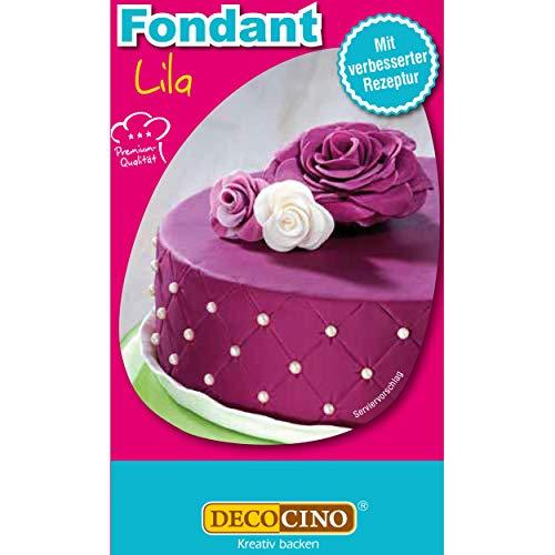 DECOCINO Fondant Lila – 250 g – ideal zum Verzieren von Kuchen, Torten, Cupcakes – Palmölfrei & Laktosefrei