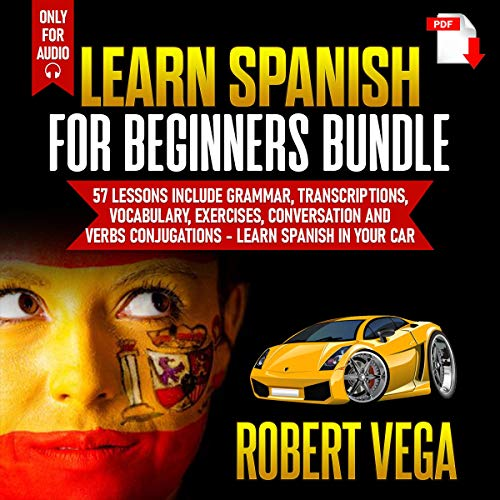 Learn Spanish for Beginners Bundle audiobook cover art