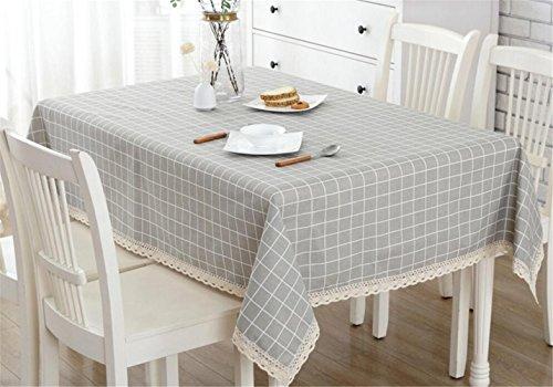 GZQ Manteles de Mesa Rectangular Manteles de Cuadros Cubierta Mesa de Algodón-Poliéster para de Cocina,Salón (90*90CM)