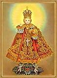 Paul Hartmann A2 0103 Prager - Cuadro de chica Jesús con corona dorada y cruz