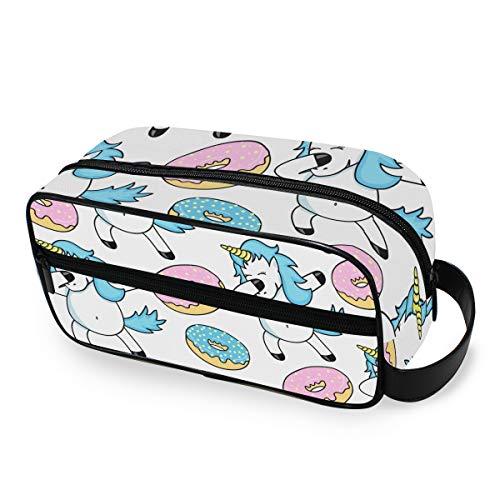 Toilettas draagbare opslag grappige eenhoorn Sweet Donut make-up tas dames gereedschap cosmetische trein geval reizen