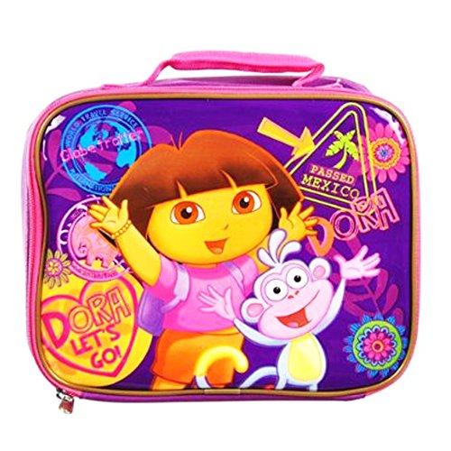 Nick Jr Dora Lunch Bag - square shape Dora lunch tote