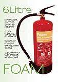 6 litros de Extintores. Cumple con estándar británico y CE.