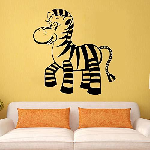 Baby Zebra Pegatinas de pared Decoración del hogar Animales para niños Decoración de dormitorio Arte de la pared Mural Papel tapiz Pegatinas de pared Otro color 45x44cm
