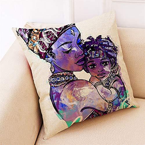 FeiliandaJJ Pillowcase, kissenhülle Kopfkissenbezug Home Dekoration Kissenbezug Afrika Mädchen Super weich Sofakissen für Wohnzimmer Sofa Bed,45x45cm (C)
