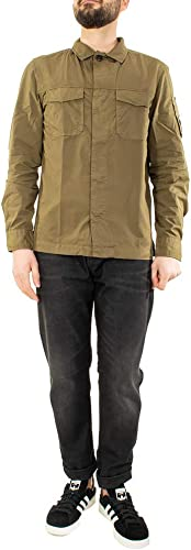 C.P. COMPANY Camicia hommes Gabardine Overshirt Couleure Verdone.