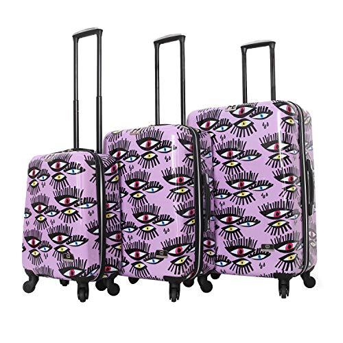 HALINA Bouffants & Broken Hearts Bold Eyes 3 Piece Set Luggage, Multicolor, One Size