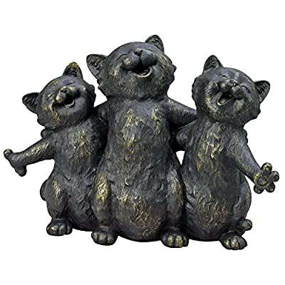 Bits and Pieces - Singing Kittens Statue - Outdoor Garden Sculpture - Yard and Patio Décor
