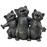 Bits und Teile–Singen Kätzchen Statue–Singen Katzen Garten Skulptur–Tolle Deko Tiere Geschenk