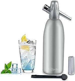 Baskiss Soda Siphon Maker, Making Sparking Water for Juice Drinks Cocktail, 1 Liter