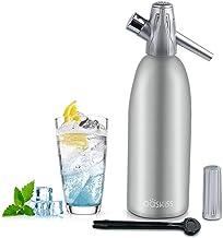 1 l,Rot iLH Soda-Siphon-Kristall-Sprudelwassermaschine Soda-Siphon f/ür die individuelle Zugabe von Kohlens/äure in Leitungswasser verwendet Standard-CO2-Ladeger/ät Nicht im Lieferumfang enthalten