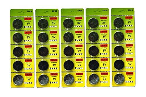 lot de 25 cr2430 batteries au lithium pièce cr2430 3v batterie