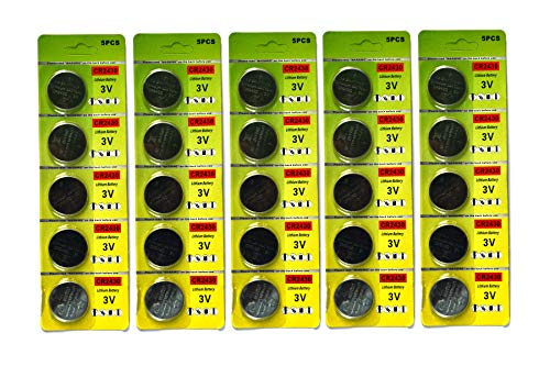 lot de 25 cr2430 batteries au lithium pièce cr2430 3v batterie