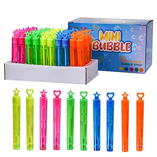 FORMIZON Burbujas de Jabon Niños, 50 Pompas de Jabon 5 Colores Varitas,...
