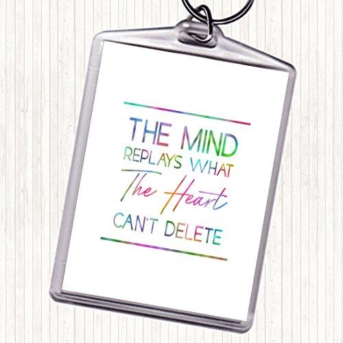 The Mind Replays Rainbow Citaat Tas Sleutelhanger Sleutelhanger