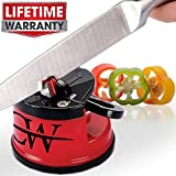 Knife Sharpener -Lifetime Warranty- Sharpens Any Blade - Use for Bread, Serrated, Steel