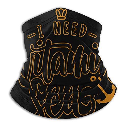 MAY-XCustom Scarf Headband,I Need Vitamin Sea Sweatband,Wind-Proof Sport Face Shields For Running Walking,26x30cm