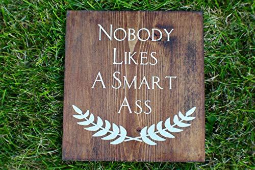 Ced454sy Nobody Likes A Smart Ass Panneau en bois