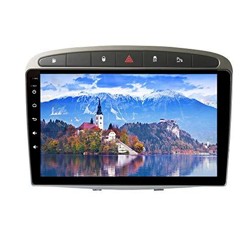 XISEDO 9' In-Dash Android 9.0 Autoradio Radio de Coche 4G RAM 64G ROM Car Radio Estéreo de Automóvil para Peugeot 308 (2008-2010) Soporte Control del Volante, RDS, Bluetooth, WiFi (Autoradio)